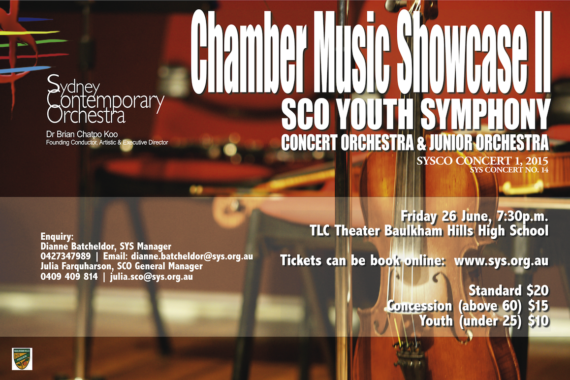 Chamber Music Showcase II SYSCO CONCERT 1 2015  (sys concert no.21)