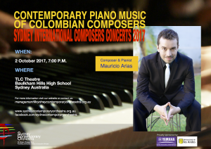 Contemporary Piano Music of Colombian Composers