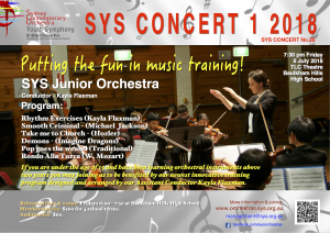SYS CONCERT 1 2018 (SYSJO)