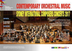 Sydney International Composers Concert 2017